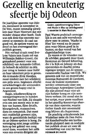 Alkmaarsche Courant 07-11-2011.
