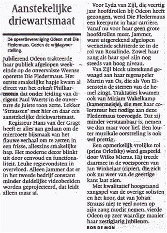 Alkmaarsche Courant 20-11-2006.
