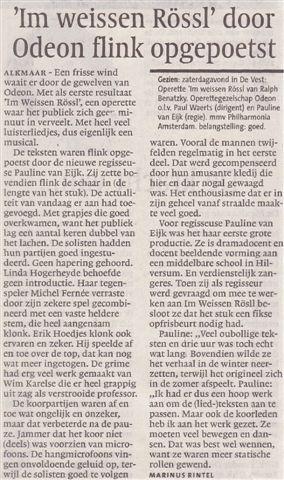 Alkmaarsche Courant 02-11-2009.