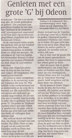 Alkmaarsche Courant 08-11-2010.