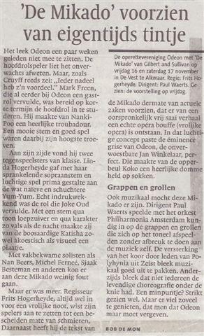 Alkmaarsche Courant 19-11-2007.