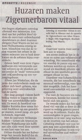 Alkmaarsche Courant 17-11-2008.
